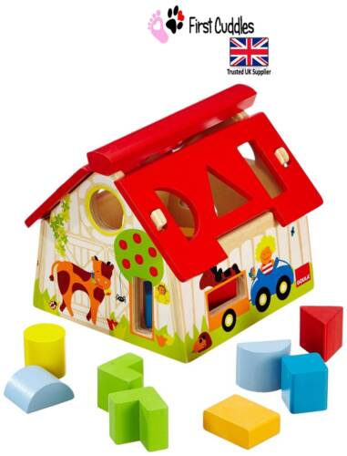 Wooden toy Good quality. Goula Wooden Farm Shape Sorting Box