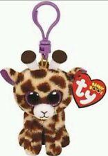 TY PELUCHE GIRAFFA - Giraffe Soft Toy Plush Pupazzo Portachiavi Keychain Beanie
