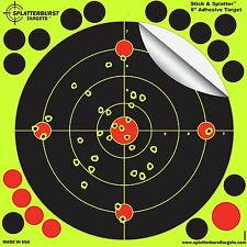 """25 Pack Target 8"""" Adhesive Instantly See Impact Florescent Airsoft BB Gun Pistol"""