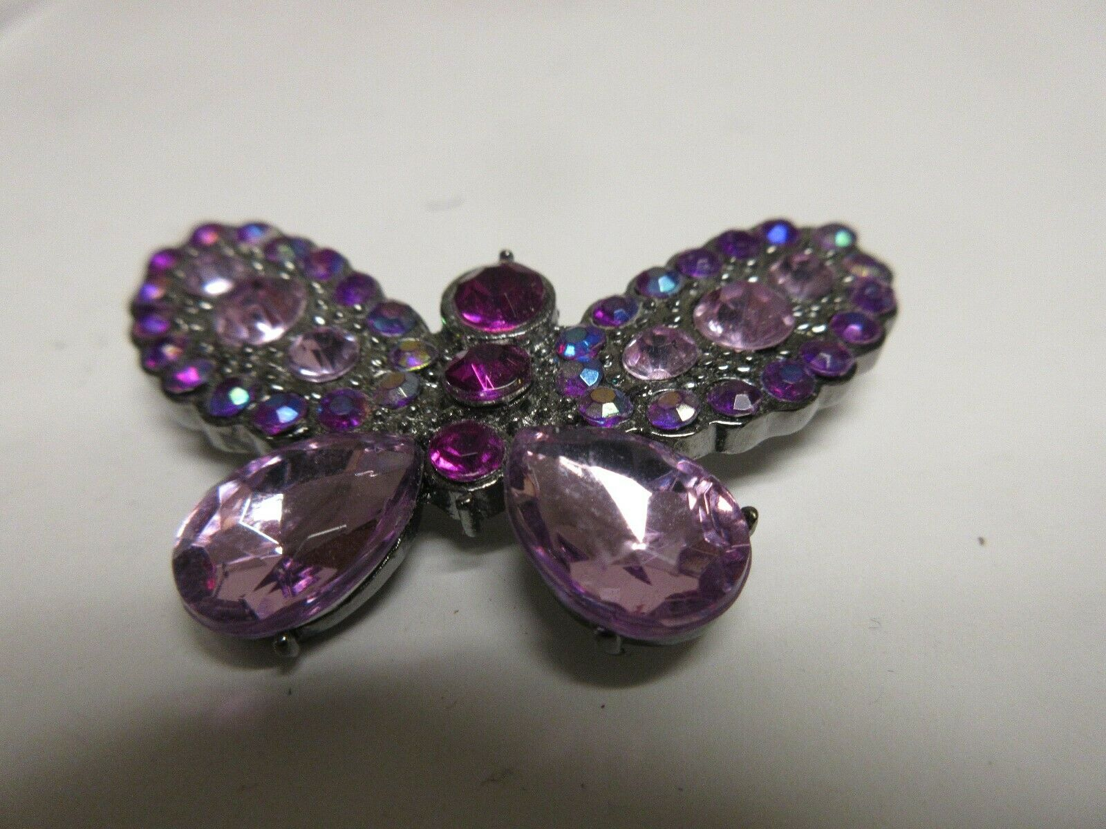 "Costume Jewelry , Vintage , Butterfly , Pin , 2"" X 1 1/"