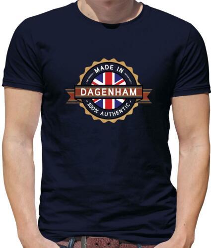 Fabricado en Dagenham Para Hombres Camiseta-ciudad-ciudad natal-nació en-Londres-Regalo