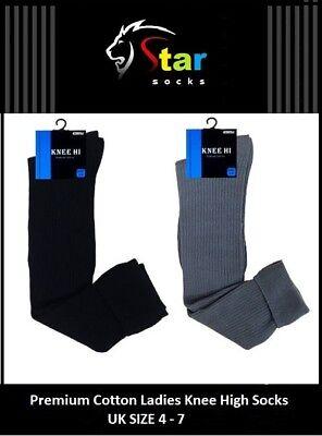 Women Girl Ladies Over Knee Thigh High Quality Long Socks UK size 4-7  ZEDGQ