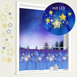 Kindergardine-LED-Nachtlicht-Sternenhimmel-Scheibengardine-Kinder-Sterne-Typ496
