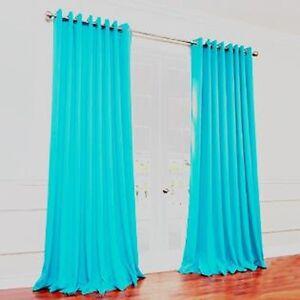 Panels window treatment curtain grommet blackout 63 quot 84 quot 95 quot aqua k72