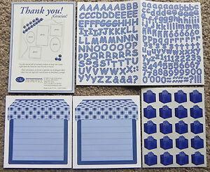 CREATIVE MEMORIES BLUE DOT MINI ABC//123 STICKER SHEET PLUS MORE BNIP /& NLA