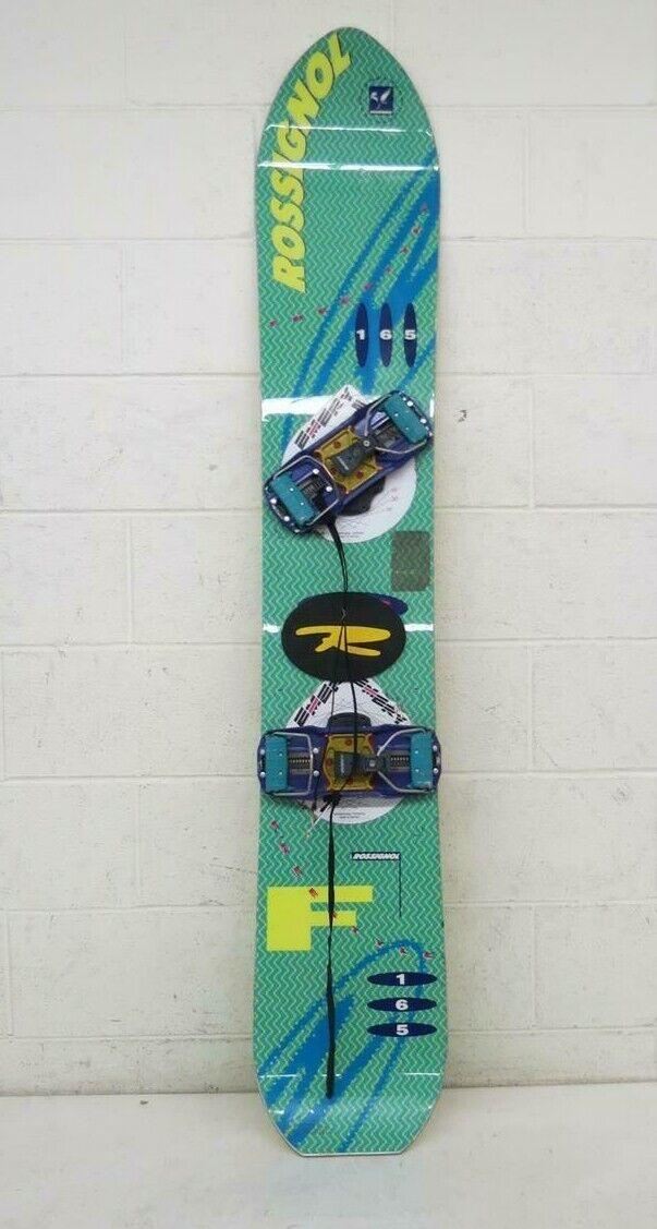 Vintage 1990s Rossignol Freestyle 165cm Snowboard w Emery Hard Stiefel Bindings