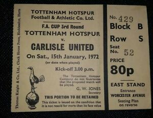 1971-72-Original-Fa-Copa-Redondo-3-Ticket-Tottenham-Hotspur-vs-Carlisle-United