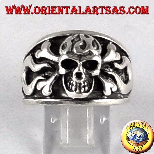 925 silver ring schädel pirat
