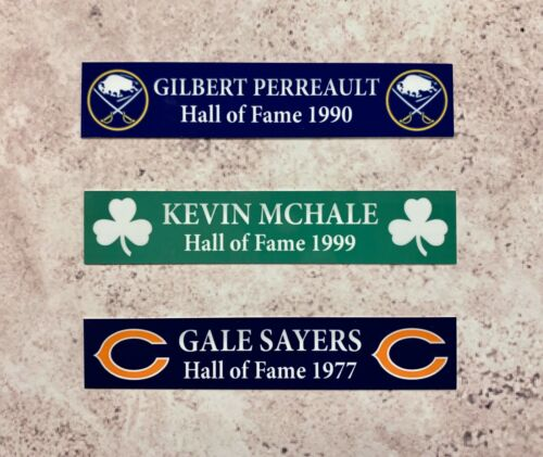 Name Plate 1x5 Any Sport Or Name Or Team Custom Two Lines