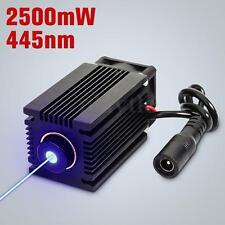 445nm 2.5W 2500mW Blue Laser Module With Heatsink For DIY Laser Cutter Engraver