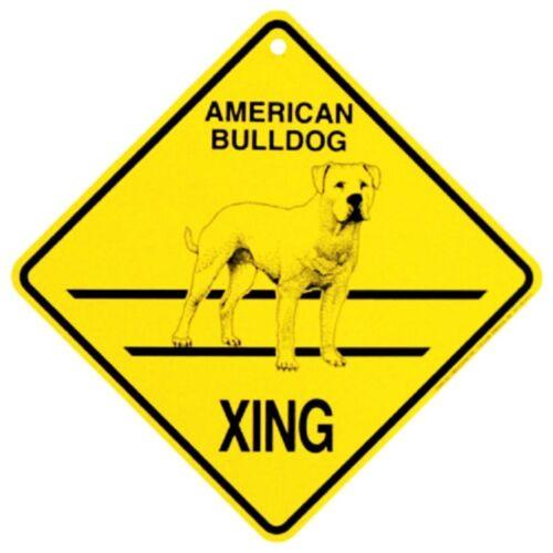 American Bulldog Dog Crossing Xing Sign New