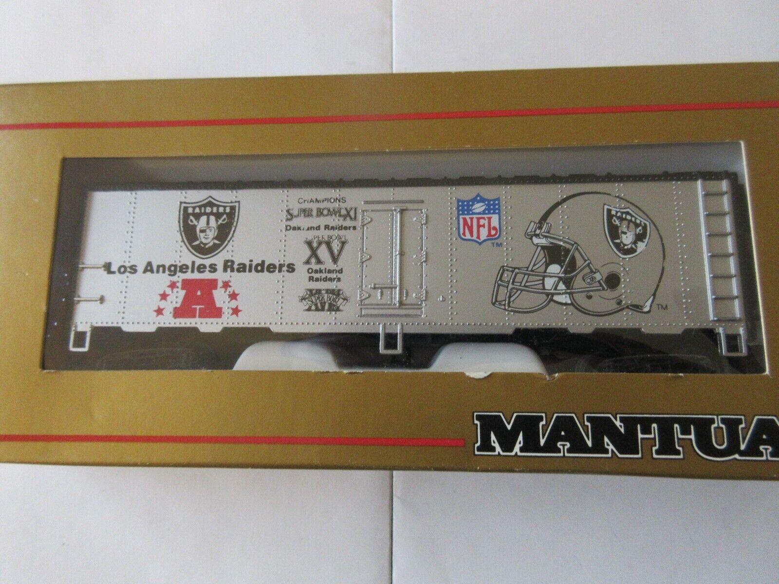 Mantua , HO Scale , Los Angeles Raiders , Box Car , #73