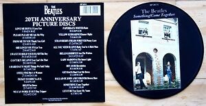 EX-EX-Beatles-Picture-Disc-7-034-Vinyl-Something-Come-Together-The-20th-Anniversary