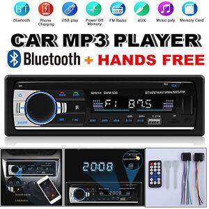 1DIN-Radio-Estereo-del-Coche-Bluetooth-4-0-Auto-Audio-USB-AUX-FM-Reproductor-MP3
