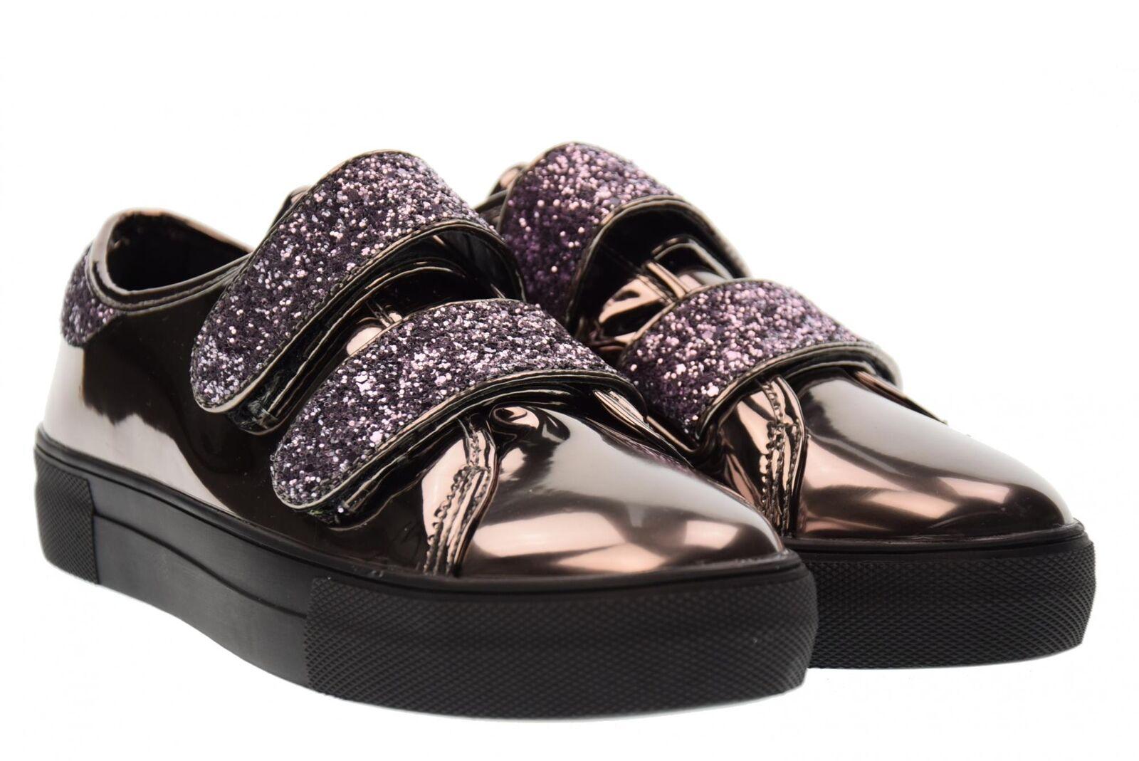 B3d Zapatos Zapatillas De Mujer Mujer Mujer Zapatos De Plataforma A17u 41386 Cuero Espejo  marca