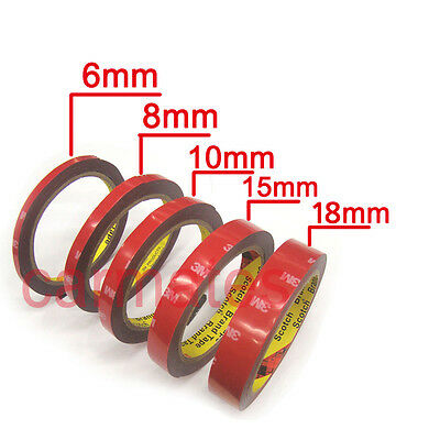 5 PCS 3M Double Face Sided Tapes 3 Meters for Automotive Usage Dashboard Door