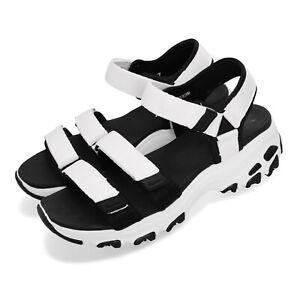 Skechers-D-Lites-Fresh-Catch-White-Black-Women-Sports-Sandals-Shoes-31514-WBK