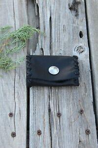 Small-black-leather-wallet-Black-leather-card-holder-Card-pocket