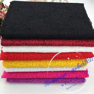 1YD-Flower-Stretch-Lace-Trim-Ribbon-Elastic-fabric-30cm-wide-Sewing-Craft-FL243