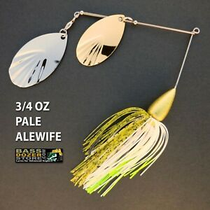 Bassdozer-spinnerbaits-FLUTED-BULLET-3-4-oz-PALE-ALEWIFE-spinner-bait-baits