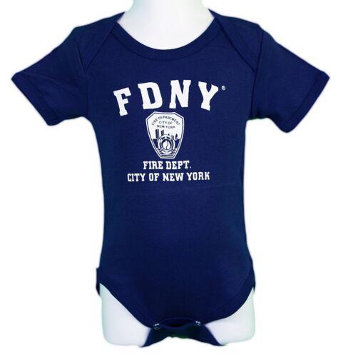 NYC FACTORY Boys Navy Blue FDNY Screen Printed Bodysuit