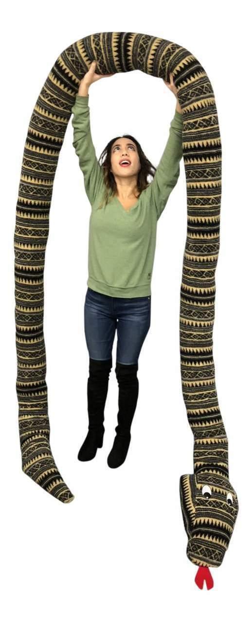 American Made 18 Foot Giant Stuffed Snake 216 Inches Soft Desert Green Serpent