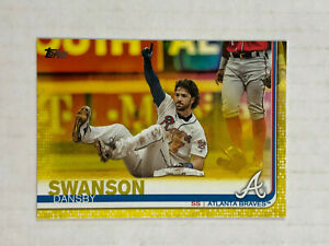 DANSBY SWANSON 2019 Topps Series 1 YELLOW WALGREENS SSP #191! BRAVES! HOT!!!!