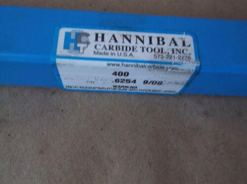 "HANNIBAL 400 REAMER .6254/"" X 9/"" STRAIGHT 6 FLUTE 09//08"