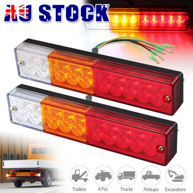 2X 20 LED Trailer Tail Lights UTE Caravan Boat Truck Reverse Stop Indicator 12V