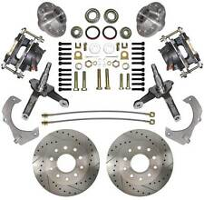 Mustang II Disc Brake Kit Spindles Drilled & Slotted Rotors Street Rod Mustang 2