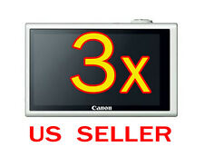 3x Canon PowerShot ELPH 320HS Camera LCD Screen Protector Guard Cover Film