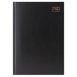 A4 Black 2021 Week To View Diary, Stationery, Brand New