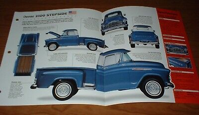 ★★1957 CHEVY 3100 STEPSIDE TRUCK SPEC SHEET BROCHURE POSTER PHOTO INFO 57 PICKUP
