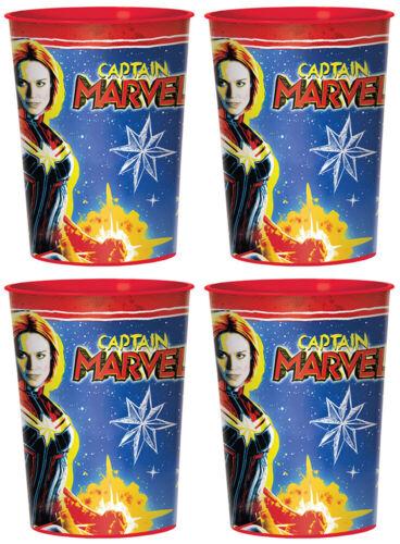 CAPTAIN MARVEL Birthday Party Plates Napkins Plastic Cups
