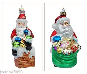 image is loading gisela graham glass santa claus glitter retro christmas - Ebay Vintage Christmas Decorations