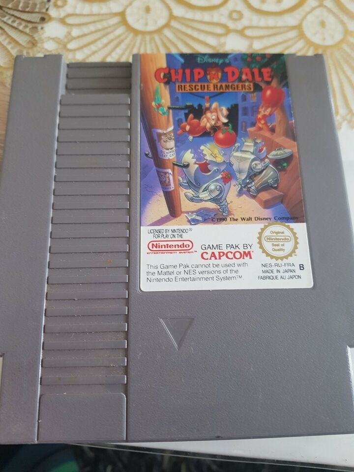 Chip n dale, NES, action