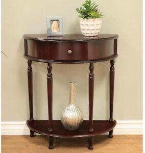 End Table Cherry Storage Living Room Half Round Tables Moon Drawer Shelf Design 75821511202 Ebay