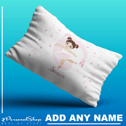 Personalised Ballerina Pillowcase Children Printed Gift Custom Print Made