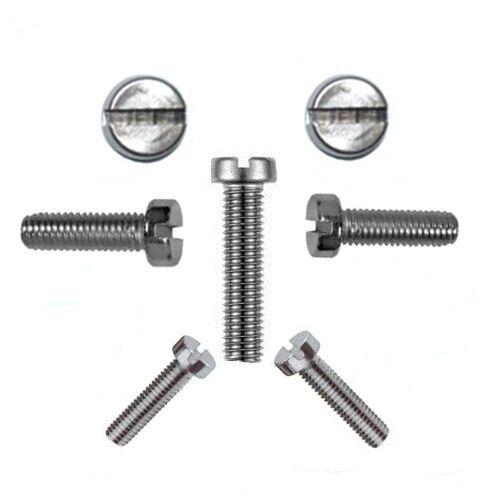 50 Stk. Zylinderschrauben mit Schlitz 3 mm DIN 84 M 3 x 10 V2A - Profi Qualität