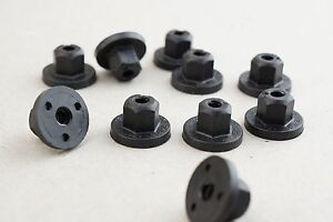 10 Tucker Plastic Hexagon Nut For Welding Bolts T5 P 1596 10MM PA6.6 Black GF 30