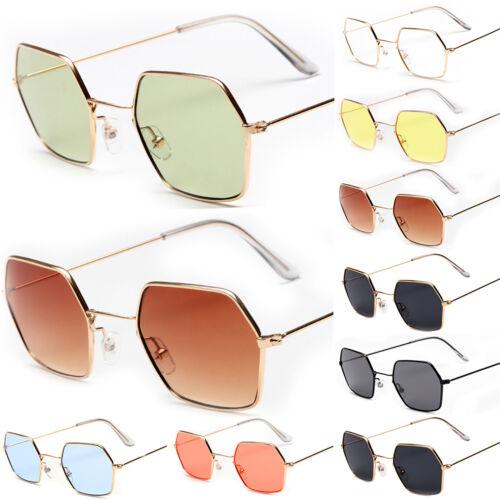 Damen Polarisiert Sonnenbrille Metall Brille Rahmen UV-Schütz Spiegelbrille DE