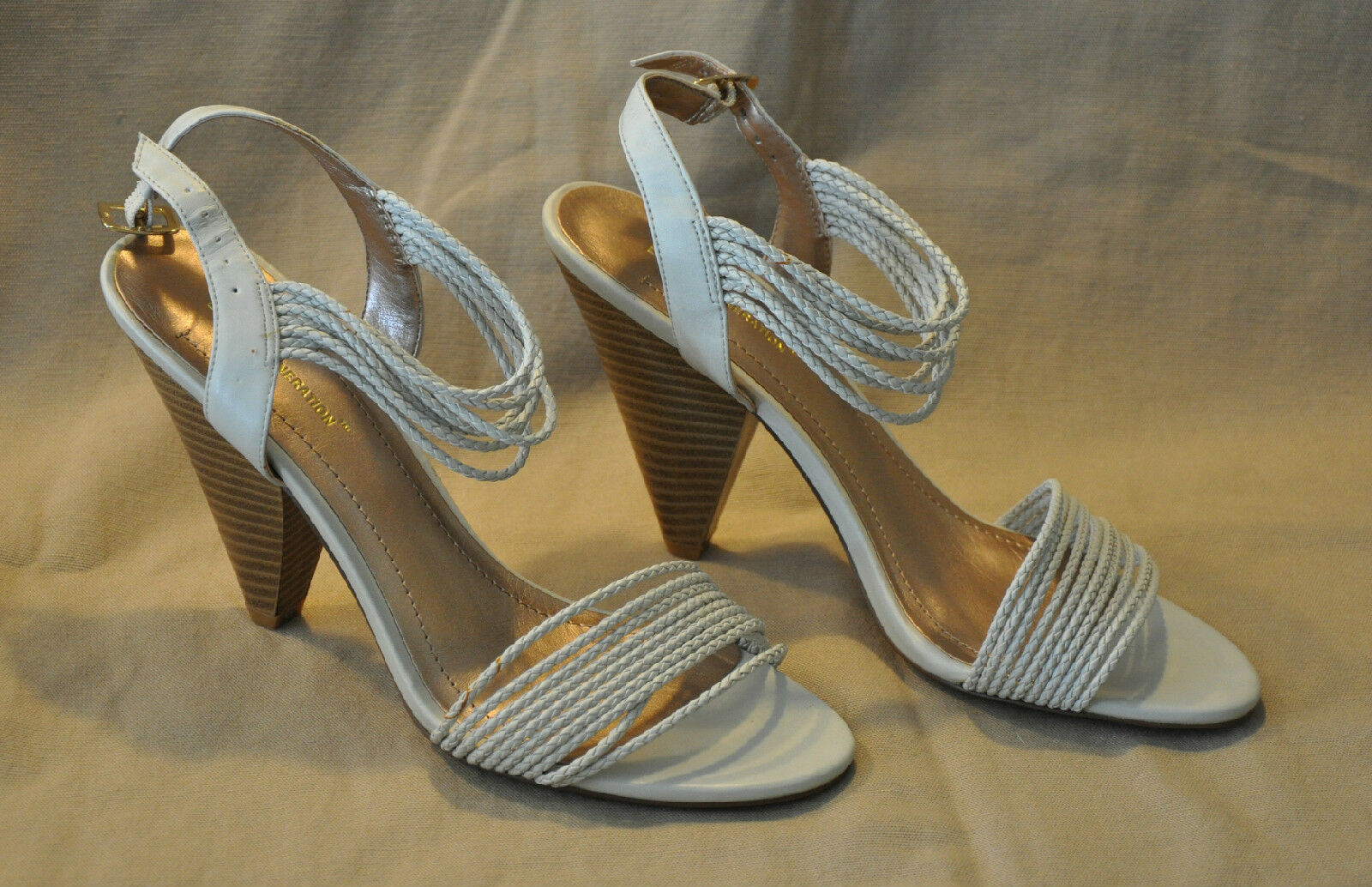 Hot!!! 9 Women's BCB Generation Ankle-Strap Shoes - Ivory -Sz 9 Hot!!! M b5db81
