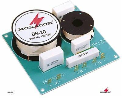 2 Stück Frequenzweiche Monacor Dn-20 (8 Ohm, 2-weg, 2000hz, 12db)