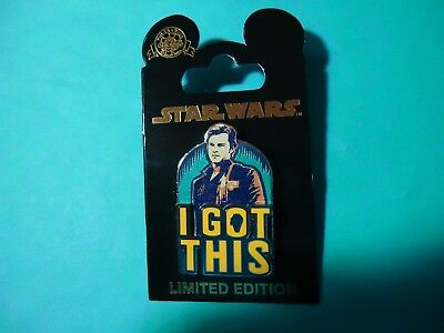 Disney Star Wars Story 2018 Han Solo I Got This 3-D Pin LE 5000 BRAND NEW
