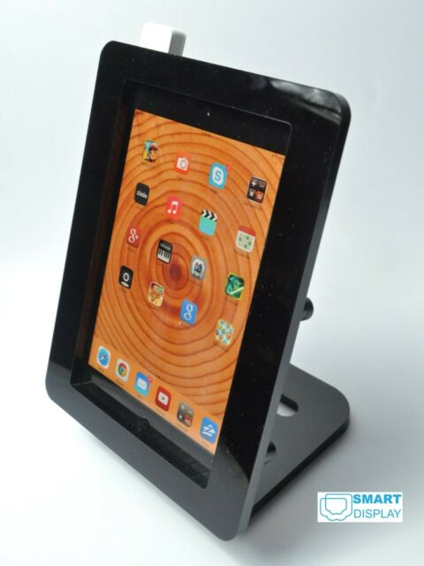 iPad mini VESA Security Black Acrylic Enclosure w Stand for POS, Kiosk, Square
