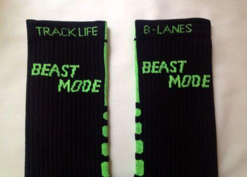 LIMITED EDITION Custom Elite Dri-Fit Style Socks BEAST MODE LOGO Sport Socks!