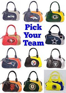 NFL-MLB-NBA-Team-Perfect-Bowler-Purse-Hand-Bag