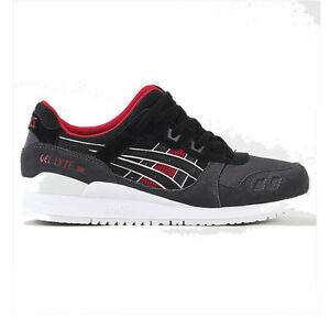 ASICS GEL LYTE III BLACK RED SIZE 6.5 7 40.5 41 TRAINERS GT-II 2 3 ... aa2e98502