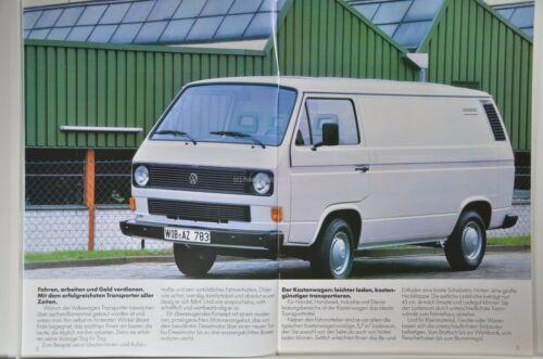 VW Volkswagen BUS Transporter T3 Doka Syncro Daten Pritsche Prospekt 01//1986