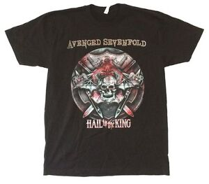 Avenged-Sevenfold-Battle-Armor-Hail-To-The-King-Black-T-Shirt-New-Official-A7X